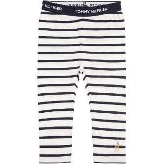 Tommy Hilfiger Girls Transatlantic Cruise Leggings -White/Navy
