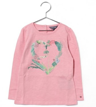 Tommy Hilfiger Girls Christa L/S Tee   -  Pink