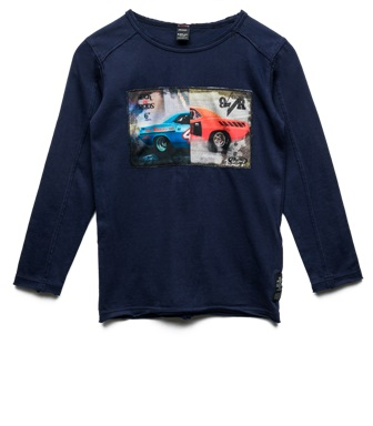 Replay & Sons Designer Boys Muscle Car L/S - Navy