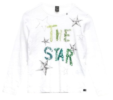 Replay & Sons Designer Girls The Star  Sequin L/S - White