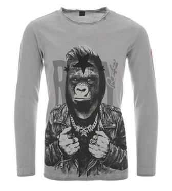 Replay & Sons Designer Boys Gorilla Rocker  L/S - Grey