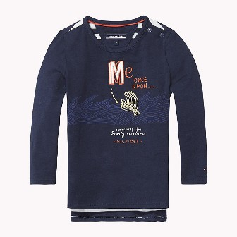 Tommy Hilfiger Girls Mermaid L/S - Navy