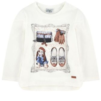 Mayoral Girls Basset Hound L/S -  Cream