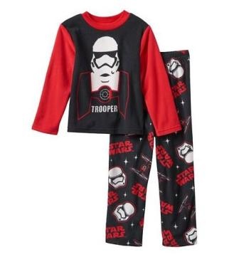 Disney Star Wars Stormtrooper Junior/Youth Boys Fleece Pyjamas - Black/Red