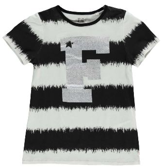 French Connection Junior/Youth Girls VIP S/S Tee - White/Black