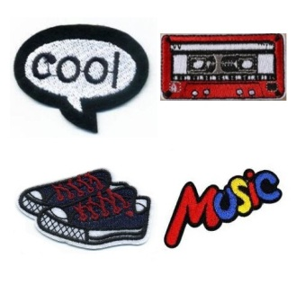 Boys 4 Pcs Cool Music Iron On Patch Set