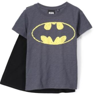 Marvel DC Comics Batman Cape Tee - Graphite Grey