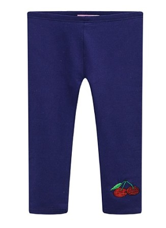 BQT Infant/Junior Girls Cherry Leggings - Navy