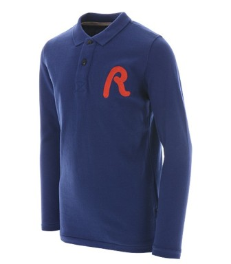 Replay & Sons Designer Boys Embroidered Signature Polo - Royal Blue