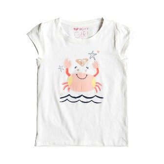 Roxy Junior Girls  Crabby Crab S/S Tee - White