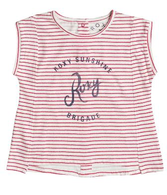 Roxy Junior/Youth Girls Try Again S/S  - White/Red