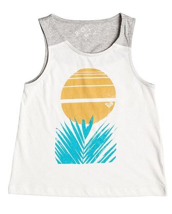 Roxy Junior Girls  Desert Palm Tank - White