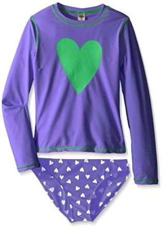OshKosh Infant/Toddler Girls Polka Dot Heart Rash Guard Set
