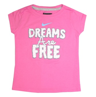 Nike Girls  Dreams are Free S/S Tee - Pink
