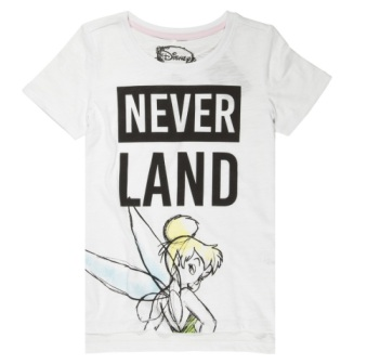 Disney Tinkerbell Neverland Girls  S/S Tee - White