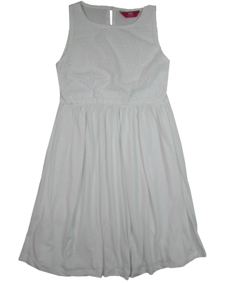 Young Dimensions UK Girls Broderei Dress - White