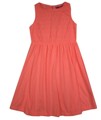 Young Dimensions UK Girls Broderei Dress - Orange