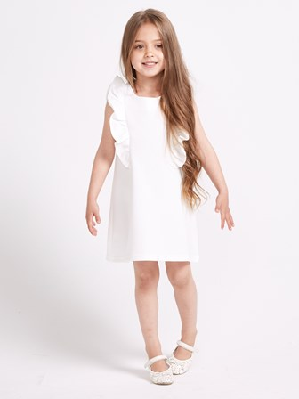 Sugar Squad UK Girls Flutter Dress - Vanilla