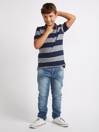 Riot Club UK Boys Hi Lo Hem Stripe Polo