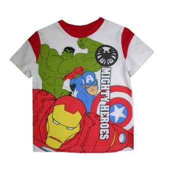 Marvel Store Avengers Mighty Heroes S/S Tee - White
