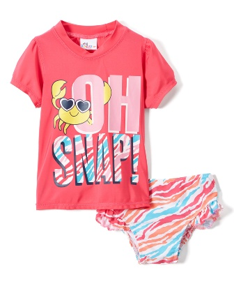 Sweet & Soft for Sears Toddler Oh Snap Swim Set - Pink