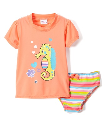 Sweet Soft For Sears Infant Toddler Seahorse Swim Set Coral