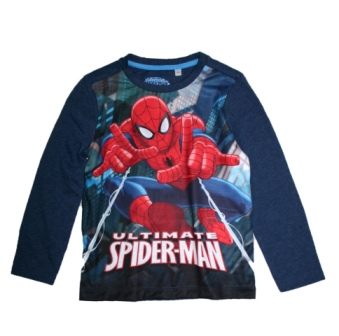 Marvel Boys Official Licensed Ultimate Spiderman L/S - Navy