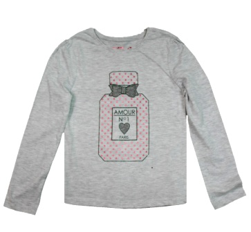 Young Dimensions UK Girls Amour No.1 Sparkle L/S - Marle Grey