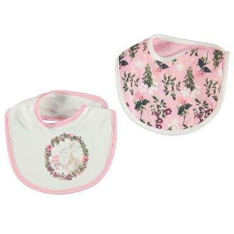 Crafted UK Bunny Appliqued/Printed 2-pack Baby Bibs