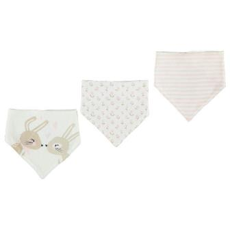 Crafted UK Bunny 3-pack Baby Bandanna Bibs