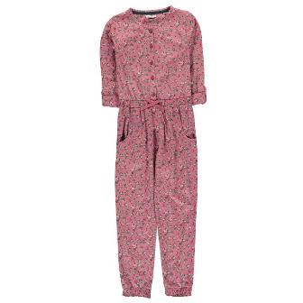 Crafted UK Girls Floral Jumpsuit - Pink