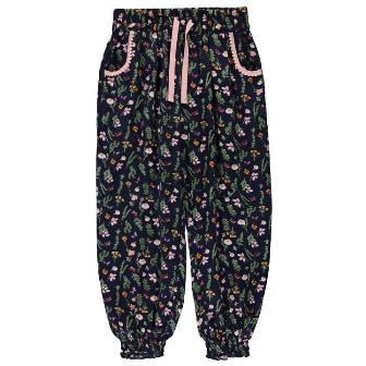 Crafted UK Girls Floral Harem Pant
