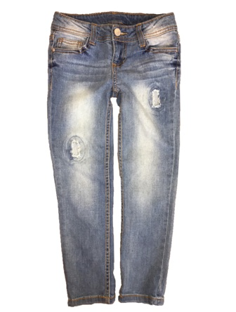 Total Girl for JC Penny USA Girls Stretch Knit Distressed Denim Jeans