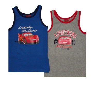 "Disney Boys Official Licensed Cars pack Singlets  ""Oeko Tex Certified"" No Harmful Chemicals"