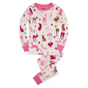 Little Blue House by Hatley  Premium Girls Deer & Bunnies Pyjamas
