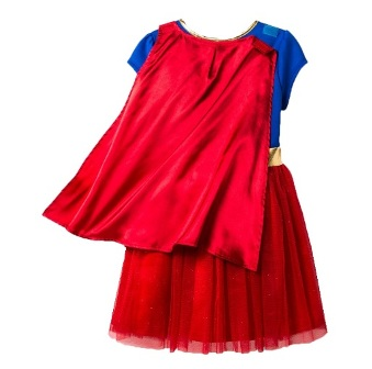 DC Comics Official Licensed Toddler Girls Premium Wonder Woman Cape Dress Up