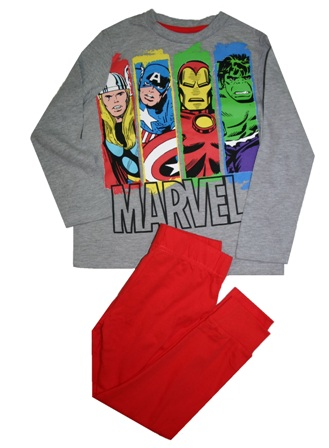 Marvel Avengers Official Licensed Boys Pyjamas - Red/Grey