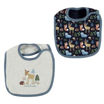 Crafted UK Woodland Animals 2-pack Baby Bibs