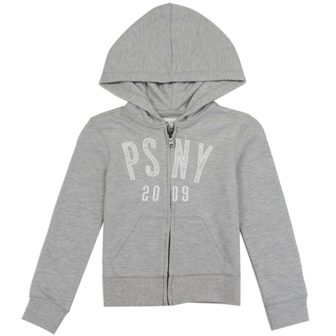 P.S. Aéropostale  Girls Premium Brand Girls French Knit Glitter Hoodie -  Grey