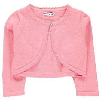 Crafted UK Girls Bolero Cardigan - Bubblegum Pink