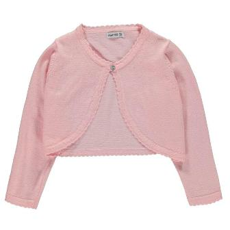 Crafted UK Girls Bolero Cardigan - Pastel Pink