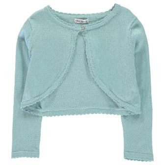 Crafted UK Girls Bolero Cardigan - Pastel Blue
