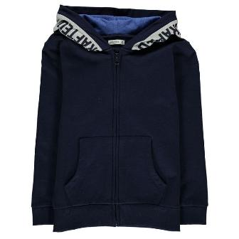 Crafted Junior Boys New Era Zip Hoody - Navy