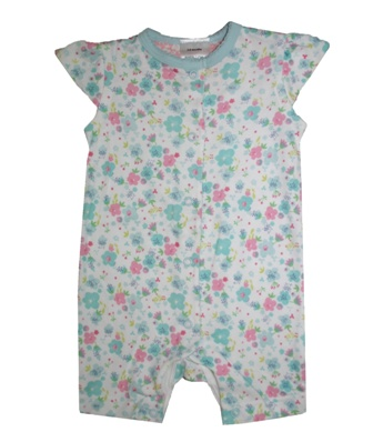 Ex Mothercare Infant Floral Romper - White