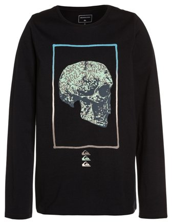 Quiksilver Youth Boys The Face Long Sleeve - Black