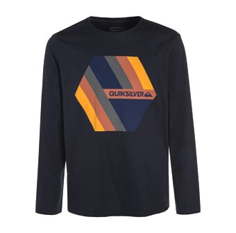 Quiksilver Youth Boys Retro Right Long Sleeve - Navy