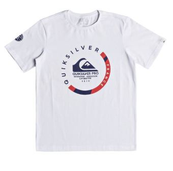 Quiksilver Youth Boys Pro France  S/S - White