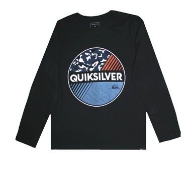 Quiksilver Youth Boys One Up Long Sleeve - Black