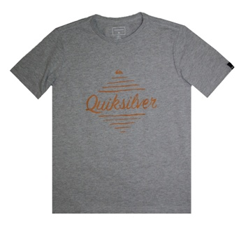 Quiksilver Youth Boys Free S/S Tee - Heather Grey