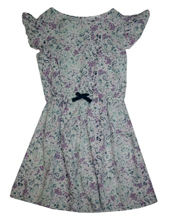 Here + There Germany Girls Paisley Floral Print Dress - White